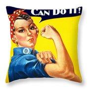 Dakota Rosie The Riviter Throw Pillow