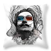 Dali In 3d Throw Pillow