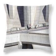 Dam Tourists Throw Pillow