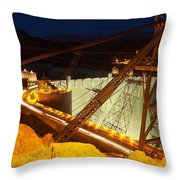 Hoover Dam Travellers Throw Pillow