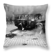 Damage Done By A V-2 Rocket In Antwerp Throw Pillow