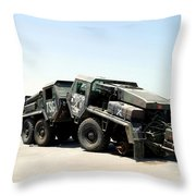 Damaged Mk48 Front Power Units Throw Pillow