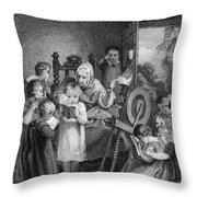 Dames School, 1812 Throw Pillow