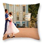 Dance At Saint Catherine Palace Throw Pillow