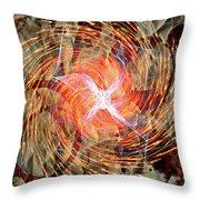 Dance Of Fires  Throw Pillow by Jerry Cordeiro