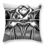 Dance Of The Black And White Calla Lilies Vi Throw Pillow