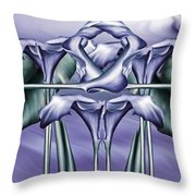 Dance Of The Blue Calla Lilies Iv Throw Pillow