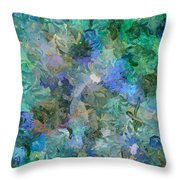 Dance Of The Flowers Throw Pillow