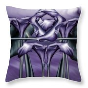 Dance Of The Purple Calla Lilies V Throw Pillow