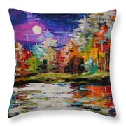 Dance On The Pond Throw Pillow