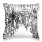 Dance: Virginia Reel C1800 Throw Pillow by Granger