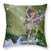 Dances In The Woodlands Throw Pillow