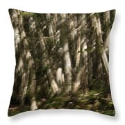 Dancing Birches Throw Pillow