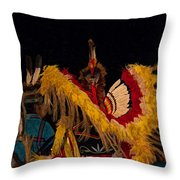Dancing Feathers Throw Pillow