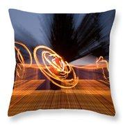 Dancing Fire Throw Pillow