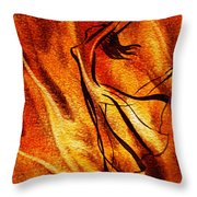 Dancing Fire Vi Throw Pillow
