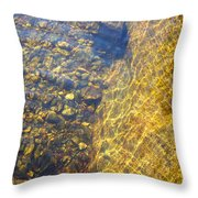 Dancing Lines And Stones Throw Pillow