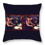Dancing New Years Eve - Gently Cross Your Eyes And Focus On The Middle Image Throw Pillow