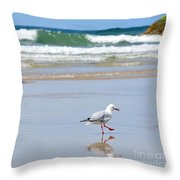Dancing On The Beach Throw Pillow