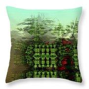 Dancing Trees On Alien Cliffs Throw Pillow