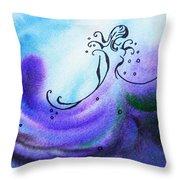 Dancing Water II Throw Pillow