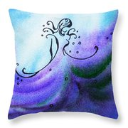 Dancing Water Vi Throw Pillow