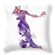 Dancing With A Stranger Throw Pillow