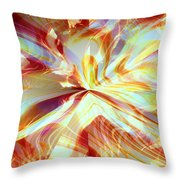 Dancing With Fire Throw Pillow