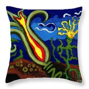 Dandelion Throw Pillow by Genevieve Esson