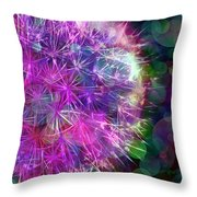 Dandelion Party Throw Pillow by Judi Bagwell