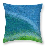 Dandelions In The Mower Digital Painting Throw Pillow