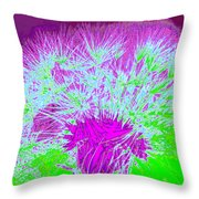 Dandilion Colorized I Throw Pillow