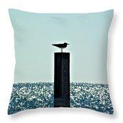Dangerous Bird Perch Throw Pillow