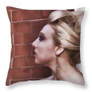 Dangling Earring Throw Pillow
