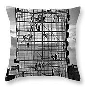 Danish Mural Monochrome Throw Pillow