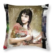 Dannie Diesel Throw Pillow