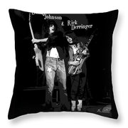 D J And R D In Spokane 1977 Throw Pillow