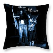 D J  And R D  Playing The Blues 1977 Throw Pillow