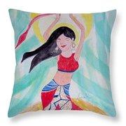 Danse Du Ventre Throw Pillow