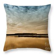 Danube River-sunset Throw Pillow