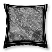 Dare To Be Different - Black And White Abstract Throw Pillow