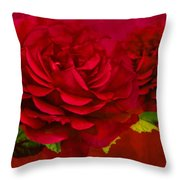 Dark Pink Rose Throw Pillow