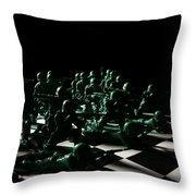 Dark Squares Throw Pillow by Lon Casler Bixby
