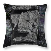 Dark Tiki Throw Pillow