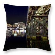 Darling Harbor At Night Throw Pillow