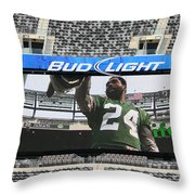 Darrelle Revis - Ny Jets Throw Pillow