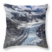 Dart Glacier Above Cascade Saddle Mount Throw Pillow