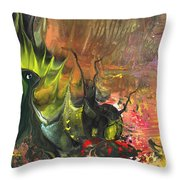 Date In The Wood Throw Pillow
