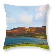 Davaar Island - Campbeltown Throw Pillow