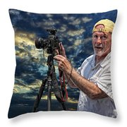 Dave Bell - Photographer Throw Pillow